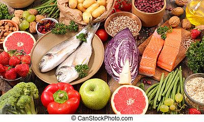 zdravý food, selekce