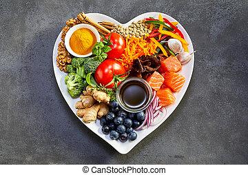 zdravý heart, systém, držet dietu, cardiovascular