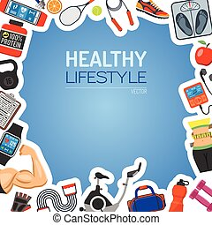 zdravý lifestyle, grafické pozadí