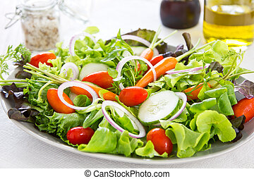 zdravý, zelenina, salát