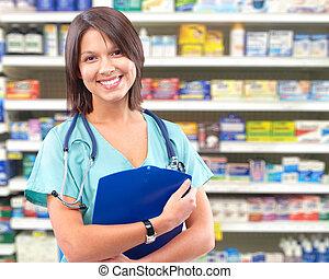 zdravotní stav péče, lékařský upravit, woman.