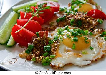 zdrowe śniadanie, smakowity