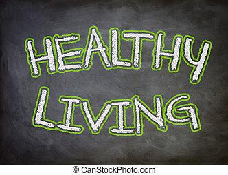 zdrowe życie, chalkboard