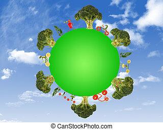 zdrowe życie, planeta, zielony