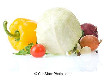 zdrowe jadło, biały, roślina, odizolowany