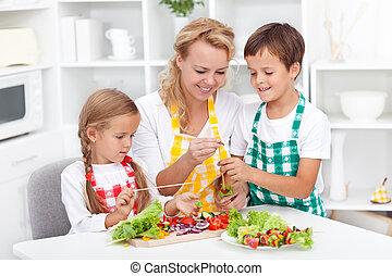 zdrowe jadło, przygotowując