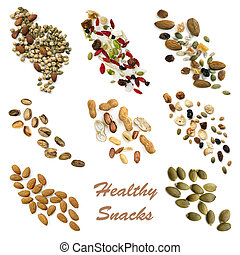 zdrowe jadło, snacking, zbiór