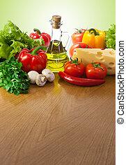 zdrowe jadło, stół