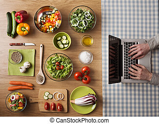 zdrowe jadło, wegetarianin, recepty, online