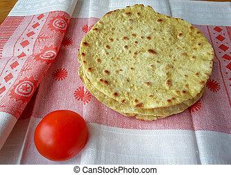 zdrowe jadło, wegetarianin, tortilla