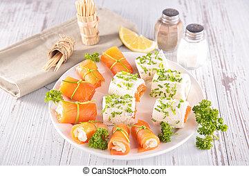 zdrowe jadło, zakąska, palec