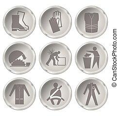 zdrowie i bezpieczeństwo, ikony