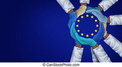 zdrowie, jedność, pracownicy, europejczyk