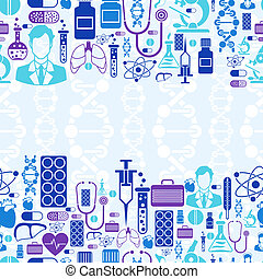 zdrowie, medyczny, pattern., seamless, troska