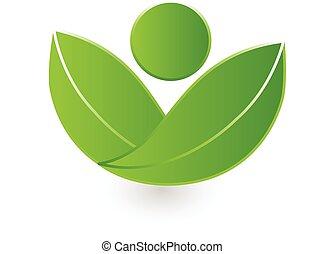 zdrowie, natura, logo, wektor