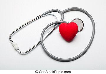 zdrowie, od, serce