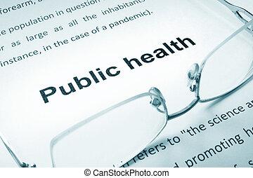 zdrowie, publiczność, znak