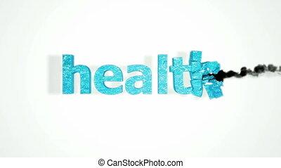 zdrowie, ruina, z, powolny ruch