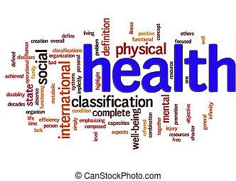zdrowie, słowo, chmura