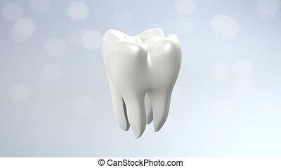 zdrowie, ząb, migotać