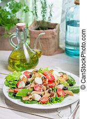 zdrowy, świeża zielenina, sałata