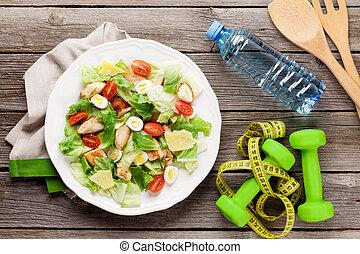 zdrowy, świeży, dieta, sałata