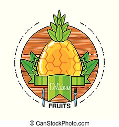 zdrowy, świeży owoc, ananas