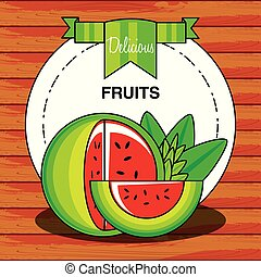 zdrowy, świeży owoc, arbuz