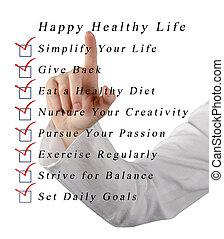 zdrowy, życie, szczęśliwy