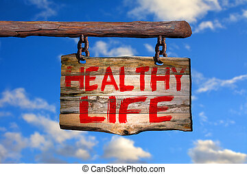 zdrowy, życie, znak