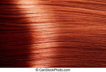zdrowy, brunatny włos