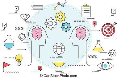 zdrowy, komunikacja, dyskusja, pojęcie, handlowy