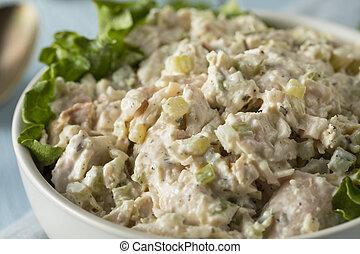 zdrowy, kurczak, swojski, sałata