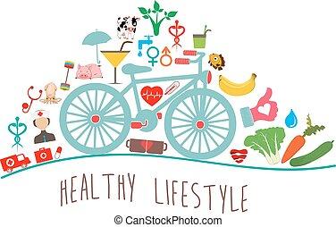 zdrowy lifestyle, tło