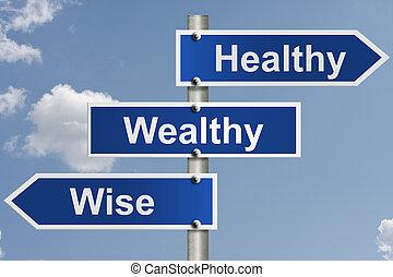 zdrowy, mądry, bogaty