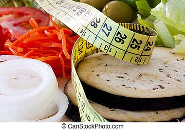 zdrowy, obciążać stratę, dieta