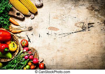 zdrowy, organiczny, vegetables., jadło.