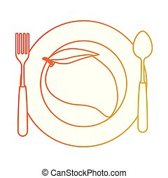 zdrowy, półmisek, owoc, świeży, mangowiec