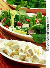 zdrowy, pole, salad-, jadło