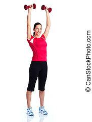 zdrowy, sala gimnastyczna, lifestyle., stosowność