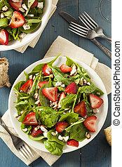 zdrowy, truskawka, balsamic, organiczny, sałata