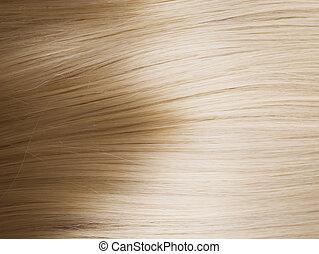 zdrowy, włosy, blond