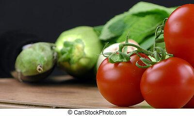 zdrowy, zmieszać, roślina, organiczny