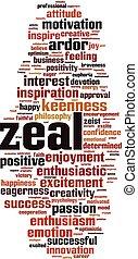 Zeal word cloud
