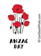 zealand, オーストラリア, anzac, 軍団, 軍隊, day., 新しい