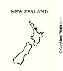 zealand, 新しい, 地図