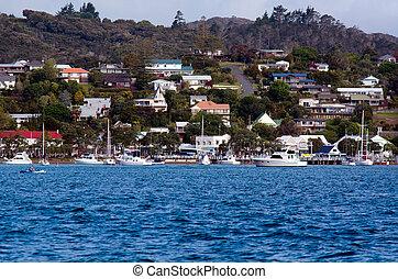 Zealand, 新しい, 島,  russell, 湾