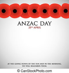 zealand, anzac, corps), 軍隊, (australia, format., ベクトル, 新しい日...