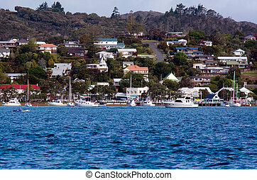 zealand, nuevo, islas, russell, bahía