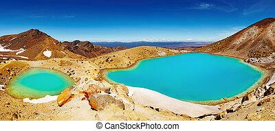 zealand, nuevo, lagos, esmeralda